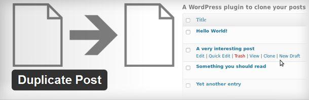 плагин для быстрого дублирования записей и страниц вашего сайта
