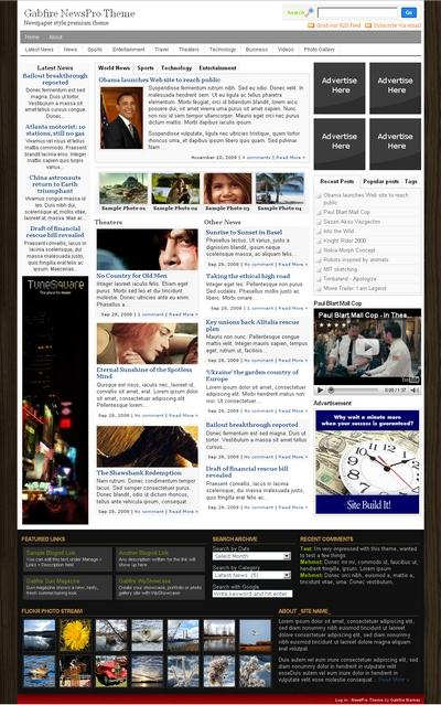 Премиум тема для сайта онлайн журнала