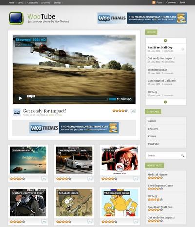 шаблон WordPress сайта с рейтингом видеороликов