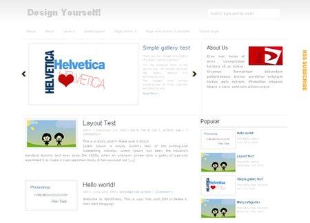 Минималистичная WordPress тема с каруселькой