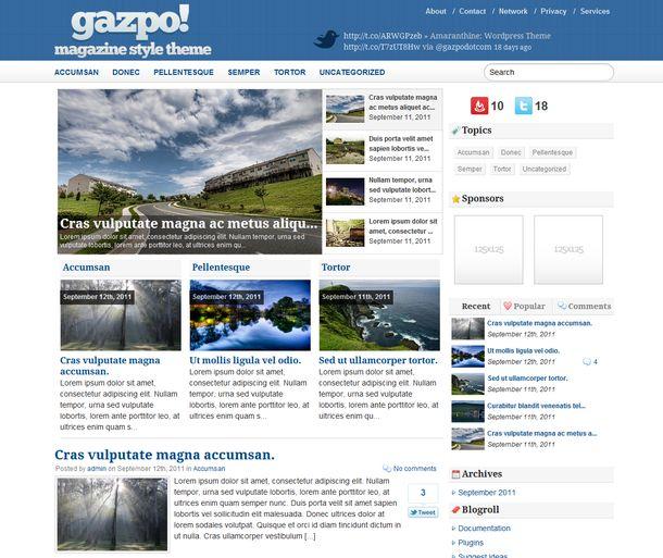 Gazpo Magazine - Free WordPress Theme