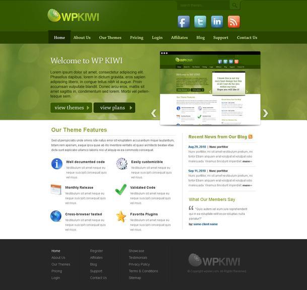 Free wp theme - WpKiwi