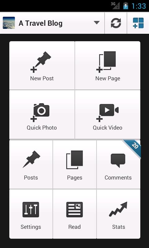 Android приложение для управления WordPress блогом