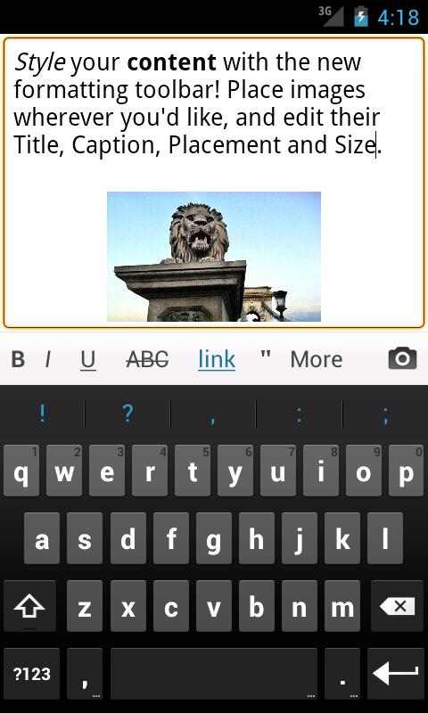 Добавление записи в WordPress через Android телефон