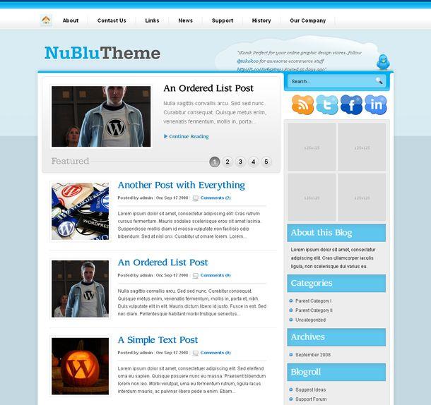 Бесплатная WordPress тема для блога