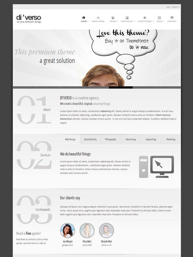 Креативный шаблон для WordPress