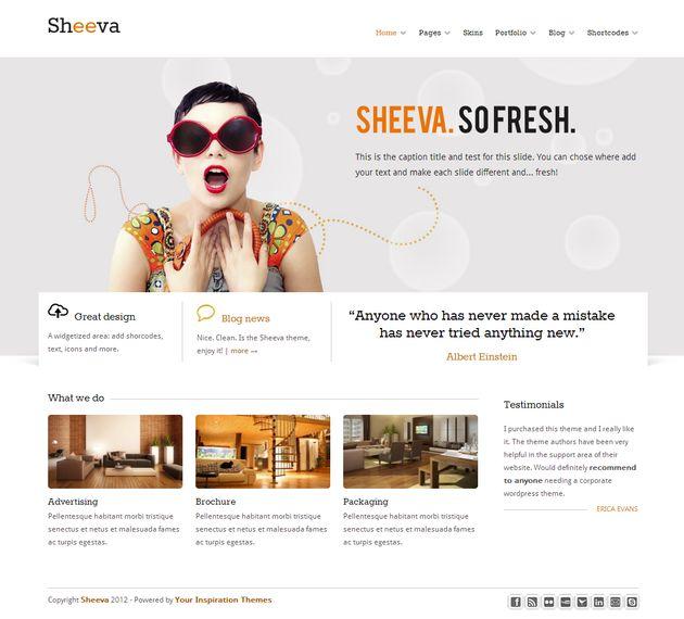 WordPress тема для корпоративного сайта