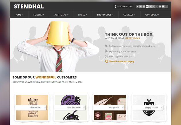 Stendhal - WordPress тема высокого качества