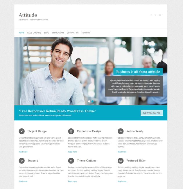 Attitude - free wordpress theme